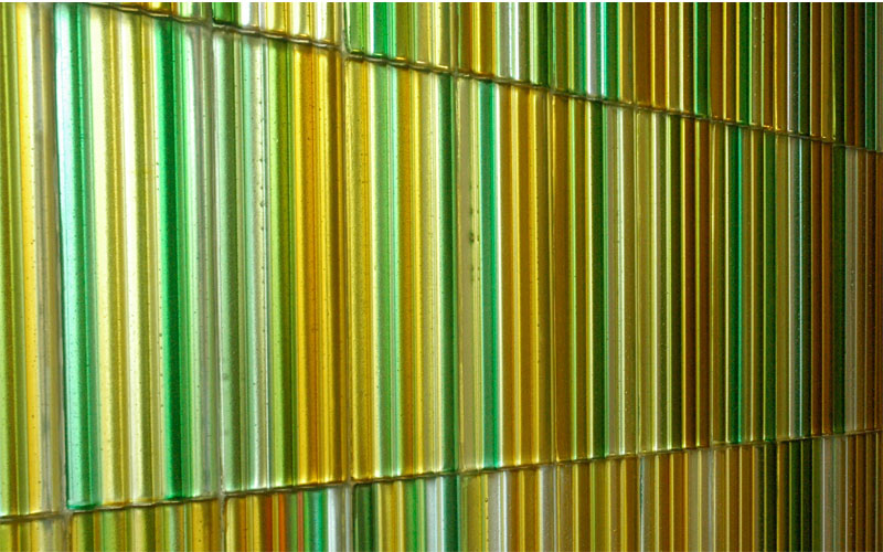 Chapel art glass wall detail by Paul Housberg: Florida Hospital