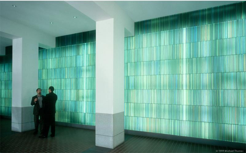 Contemporary glass art entitled Lightfall