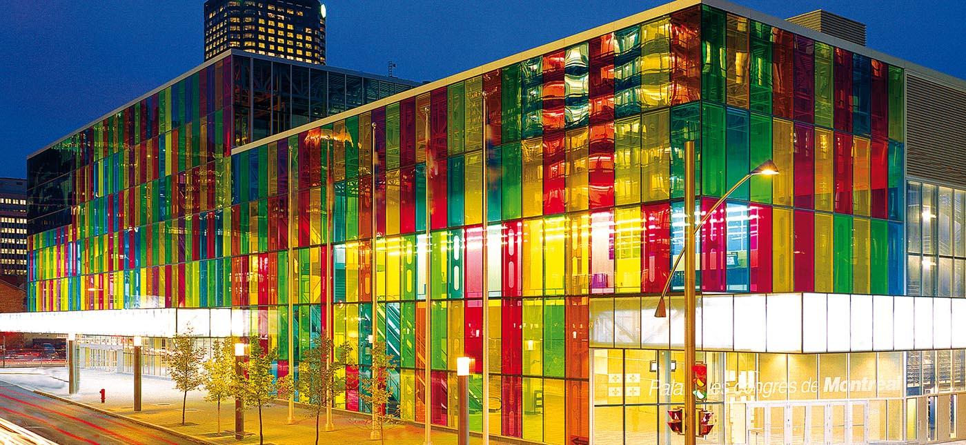 Colored glass at the palais des congr s paul housberg for Window colour design
