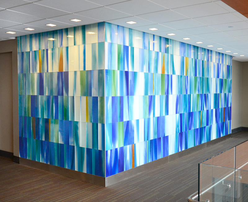 Painted Glass Installation Spaulding Rehabilitation Hospital