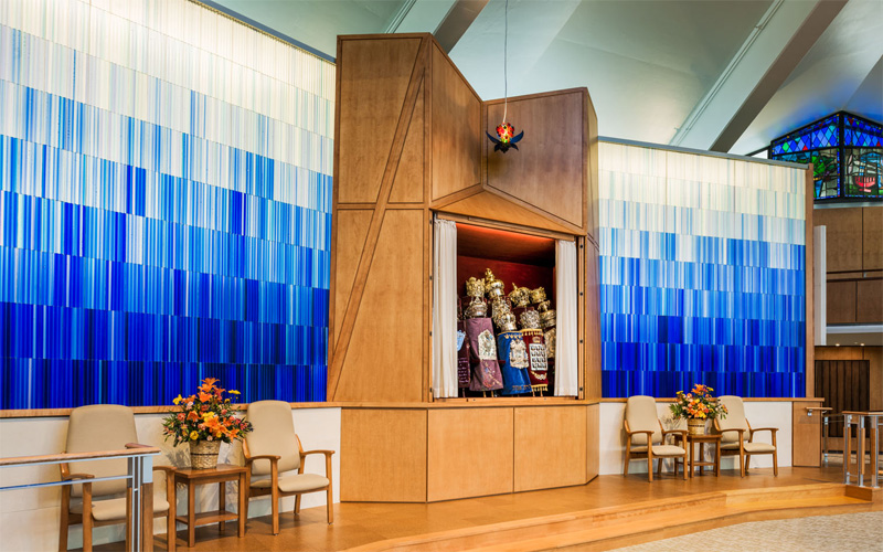 Liturgical Glass Art, Temple Adath Israel, by Paul Housberg - in the running for the 4th Annual CODAawards
