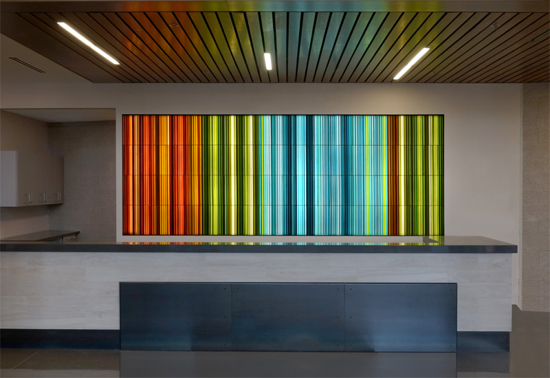 Parker Recreation Center Lobby Feature Wall