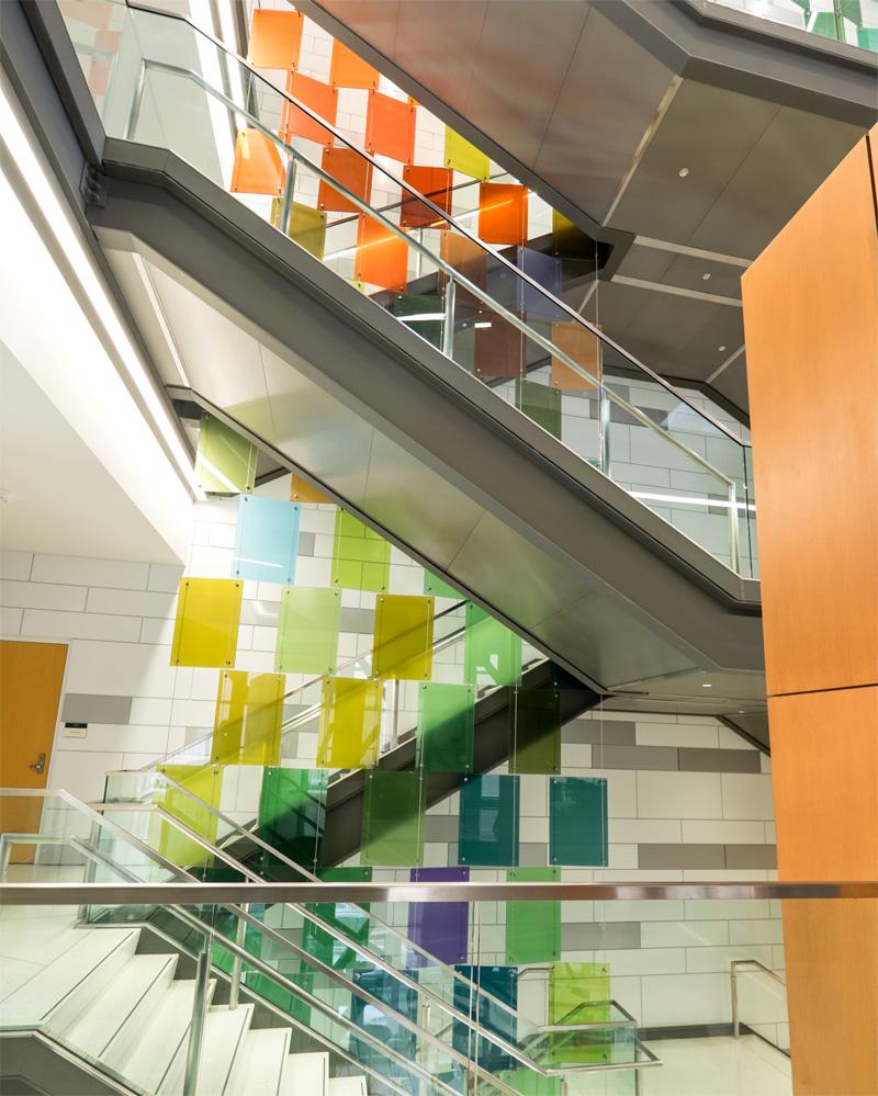 Michigan state university paul housberg for Coloured glass panels