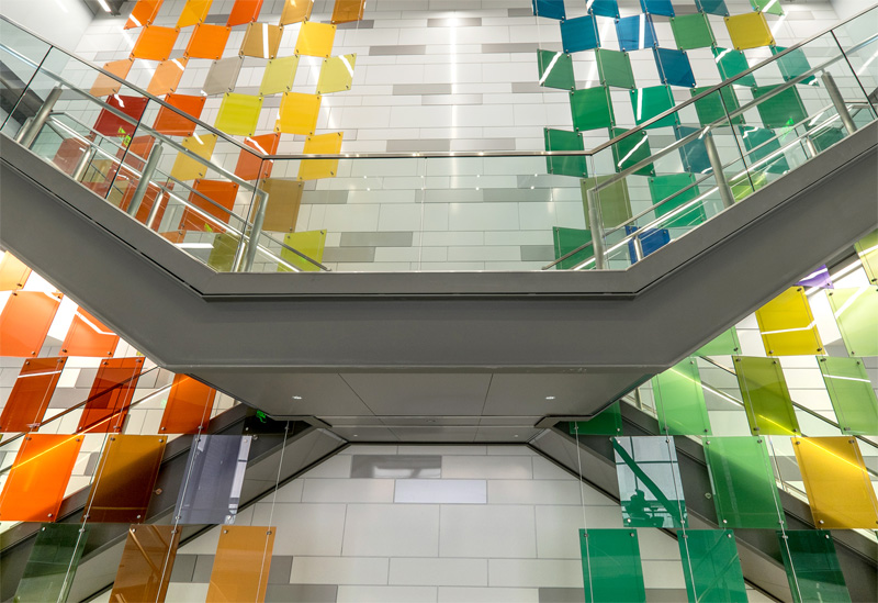 Glass Installation by Paul Housberg for Michigan State University (Gallery Work versus Public Art)